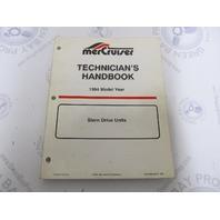 1994 Mercury Mercruiser Stern Drive Units Technicians Handbook 90-806534940