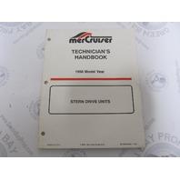1996 Mercury Mercruiser Stern Drive Units Technicians Handbook 90-806534960