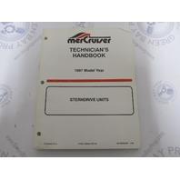 1997 Mercury Mercruiser Stern Drive Units Technicians Handbook 90-806534970