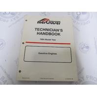 1994 Mercury Mercruiser Gasoline Engine Technicians Handbook 90-806535940