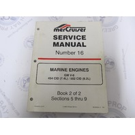 90-823224-2 MerCruiser Service Manual Number 16 GM V-8 Marine Engines Book 2