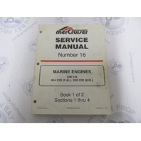 90-823224-2 MerCruiser Service Manual Number 16 GM V-8 Marine Engines Book 1