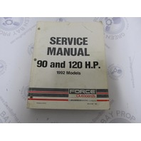90-823267 Mercury Force Outboard Service Manual 90/120 HP 1992 Models