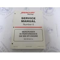 90-840283 MerCruiser Service Manual Number 6 GM 500 Hi-Performance EFI