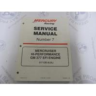 90-840500 MerCruiser Service Manual Number 7 GM 377 Hi-Performance EFI