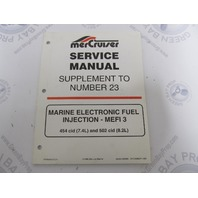 90-861326980 MerCruiser Service Manual Supplement to Number #23 MEFI3 Marine Engines