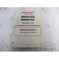 90-861329-1 MerCruiser Service Manual Number 26 GM 4 Cylinder Marine Engines
