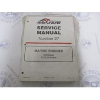 90-861784 Mercruiser Service Manual 27 Marine V-8 Diesel Engines D7.3L D-Tronic
