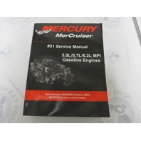 90-864260001 Mercury Mercruiser Gasoline Engines #31 Service Manual 5.0-6.2L MPI