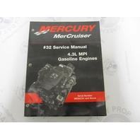 90-864261 Mercury Mercruiser Gasoline Engines #32 Service Manual 4.3L MPI