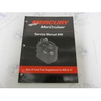 90-865376 Mercury Mercruiser #40 Service Manual Gen III Cool Fuel Supplement