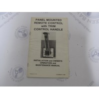 90-88151 Mercury Panel Mount Remote Control Installation & Owner Manual