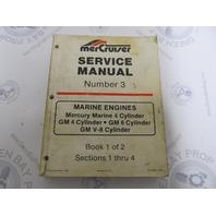 90-95693 MerCruiser Service Manual Number 3 GM Marine Engines Book 1