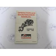 90-97235 Mercruiser 120-140 Stern Drive Operation & Maintenance Manual