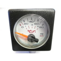 Bayliner Faria CS023 Square Bezel Oil Pressure Gauge