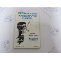 90-99917 Mercury Outboard Operation & Maintenance Manual Merc 18XD/25XD