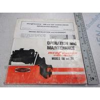 Mercruiser Stern Drive Operation & Maintenance Manual Models 888 & 233