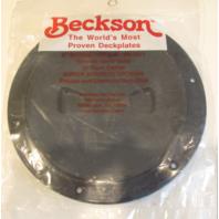 """DP60-B Beckson 6"""" I.D. Black Twist Out Smooth Deck Plate"""