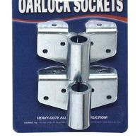 """G811 Stearns Marine Boat Heavy Duty Steel Angle Bracket Oarlock Sockets 1/2"""""""