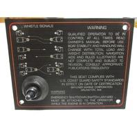 1988 Bayliner Capri Dash Panel Emergency Shutdown Switch