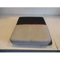 """1990 Bayliner Capri Boat Rear Stern Seat Cushion Grey Dark Blue 20"""" x 20"""""""