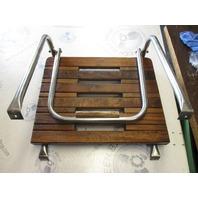 """Boat Stern Teak Swim Platform 18 3/4"""" x 15 1/2"""" & Rails"""