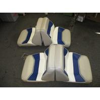 TWO 1995 Bayliner Capri 1950 18ft Seats Back to Back Fold Down Flat Beige Blue