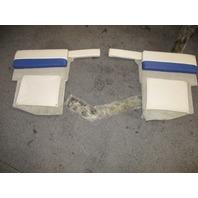 1995 Bayliner Capri 1950 18ft Interior Rear Stern Wall Cushion Panels Beige Blue