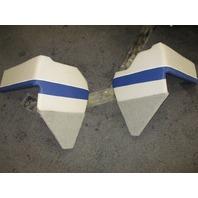 1995 Bayliner Capri 1950 18ft Interior MIDDLE Wall Cushion Panels Beige Blue