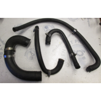 0910160 Lot of Four OMC V6 Sterndrive Water Pump Cooling Recirculation Hoses 1981-85