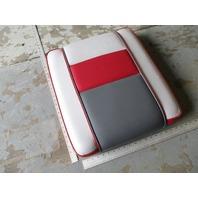 1989 Four Winns Sun Downer Rear Jump Seat Cushion Red White Gray