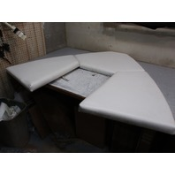 Front Bow Seat Boat Cushions 1998 Wellcraft Excel 19SSX White Vinyl