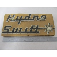 Vintage Hydro Swift Boat Emblem Logo Name Plate 2-Piece