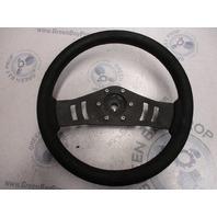 "Black Medium 13.5"" Teleflex Boat Steering Wheel Tapered Shaft Half Moon Key"