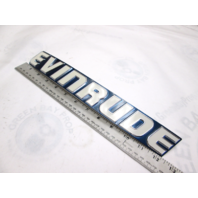 0209509 OMC Evinrude Outboard Cowl STBD Applique Name Plate 140 Hp 1983-84