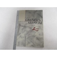 Lowe Pontoon, Deck, Fishing Boat Owner's Manual