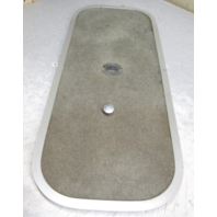 "Bayliner Capri Boat 33 3/8"" x 13 3/8"" Grey Deck Hatch w/ Knob and Vent"