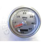 TC9235A Faria Baja Brushed Aluminum & Black 6K RMP Adjustable Tachometer Gauge
