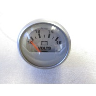 VP4017A Faria Brushed Aluminum & Black Volt Voltage Volts Gauge