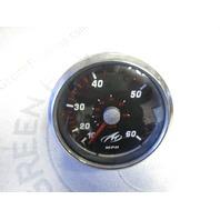 SE9369A Faria Marine Boat Black & Red Speedometer Speedo