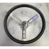 """Vintage Boat Stainless Steel 14"""" Steering Wheel 3 Spokes Standard Tapered Shaft"""