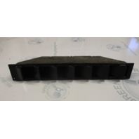 "Marine Boat Black Plastic Louvered Blower Vent  17 1/2"" x 2 1/2"""