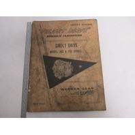 Velvet Drive Hydraulic Transmission Direct Drive Service Manual 70C & 71C Series
