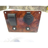 Marine Boat Spray Switch Dash Panel Wood Grain Finish