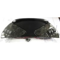 Custom Boat  Accessory Dash Panel With Grounding Block Black/Metallic Gray