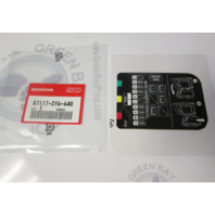 87117-ZY6-640 Honda Outboard Fuse Panel Label