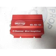 Milennia MIL-MA-100 Marine Amplifier Mini 50X2 RMS Watts