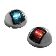 "Attwood 2"" Marine Boat Chrome LED Sidelight Red/Green Pair up to 65.6' 3570-1"