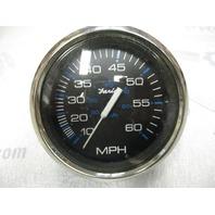 SE9509B Faria Marine Boat Dash Speedo Speedometer 60 MPH Black/Silver
