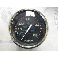SE9506B Faria Marine Boat Dash Speedo Speedometer 35 MPH Black/Silver